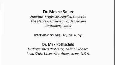 Interview with Dr. Moshe Soller