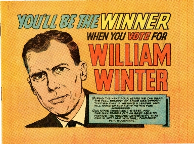 You'll be the winner when you vote for William Winter