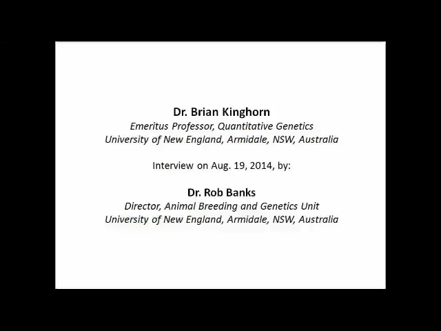 Interview with Dr. Brian Kinghorn