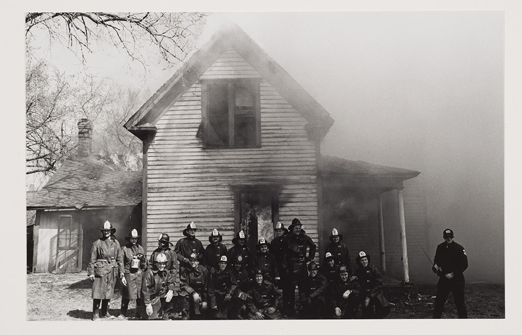 Untitled (Firemen in Front of a Burning House)