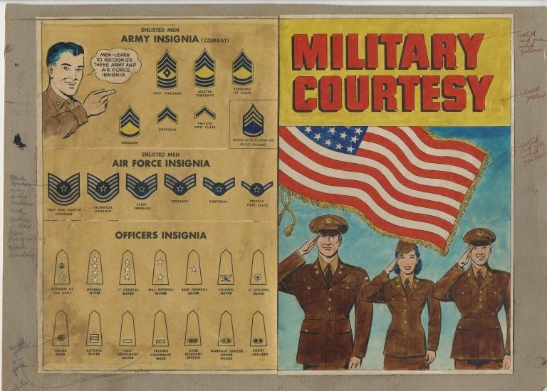 Military Courtesy (original art- cover)