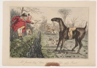 "Mr. Jorrocks (Log.) ""Come Hup! I Way - You Ugley Beast!"""