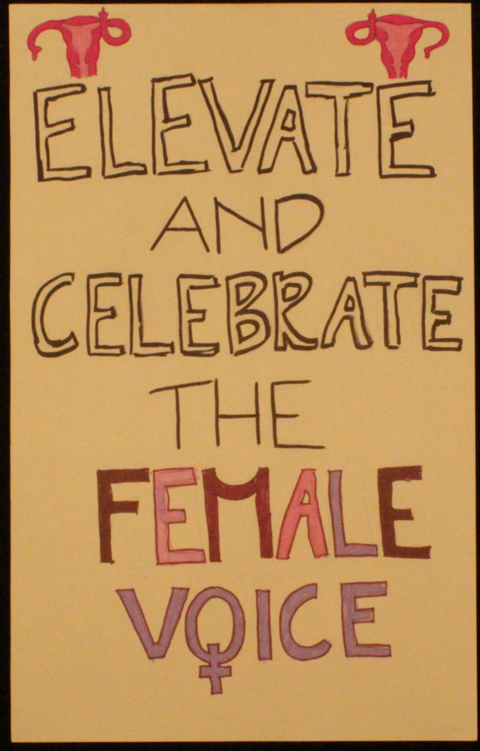 Poster from 2018 Women's March