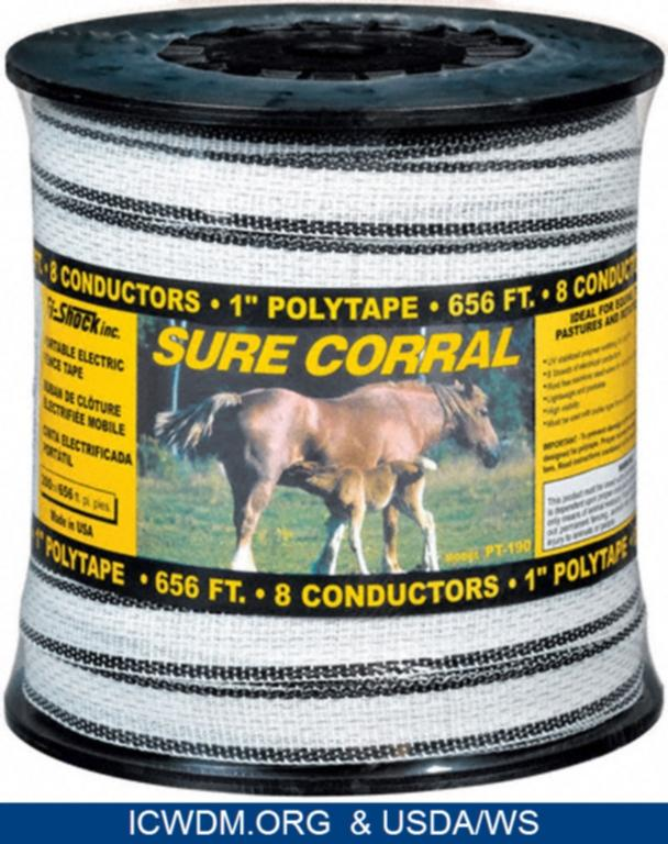 """Fi-Shock, Inc. Polytape Sure Corral portable electric fence (1"""""""" tape)"""