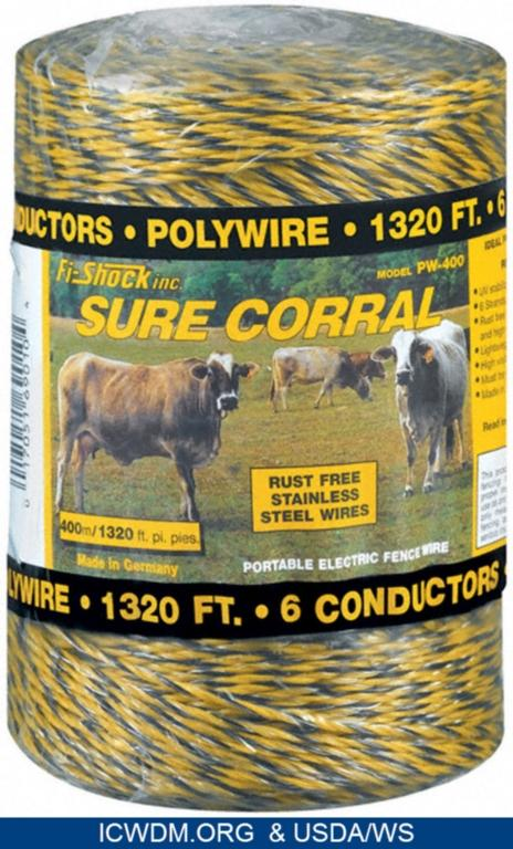 Fi-Shock, Inc. Polywire Sure Corral portable electric fence (Model PW-400)